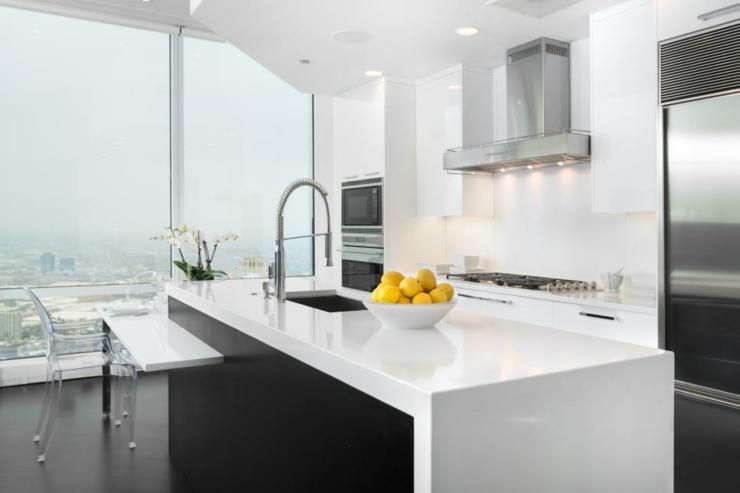 imagenes cocinas modernas ideas variantes blanco limones