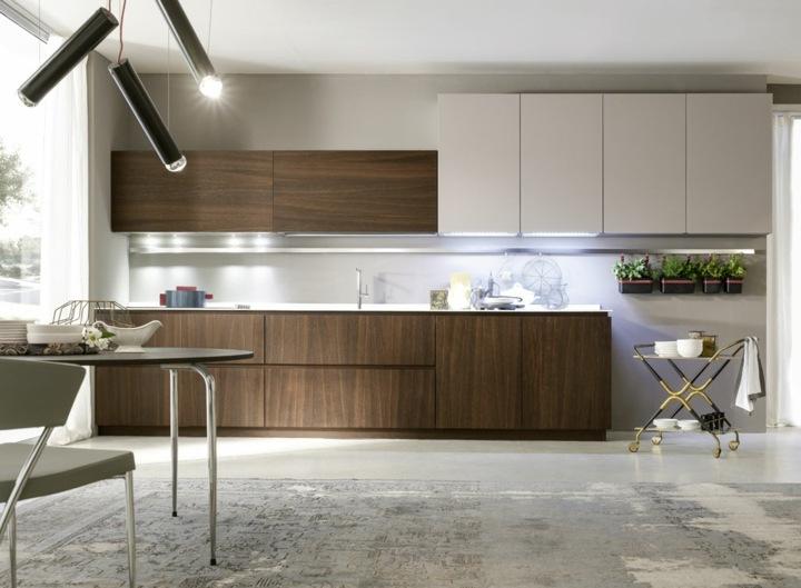 imagenes cocinas modernas luminarias salas negro