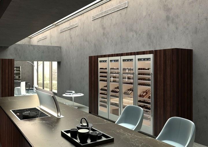 imagenes cocinas modernas luminosas hormigon sillones