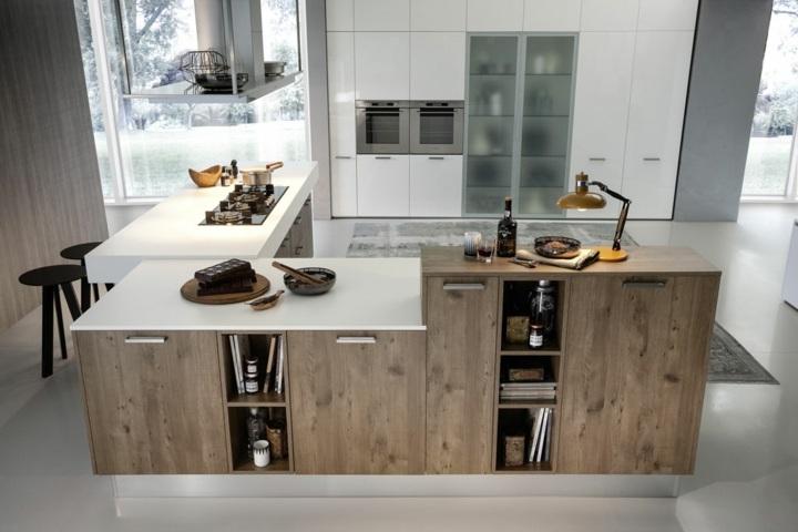 imagenes cocinas modernas rustico acento blanco