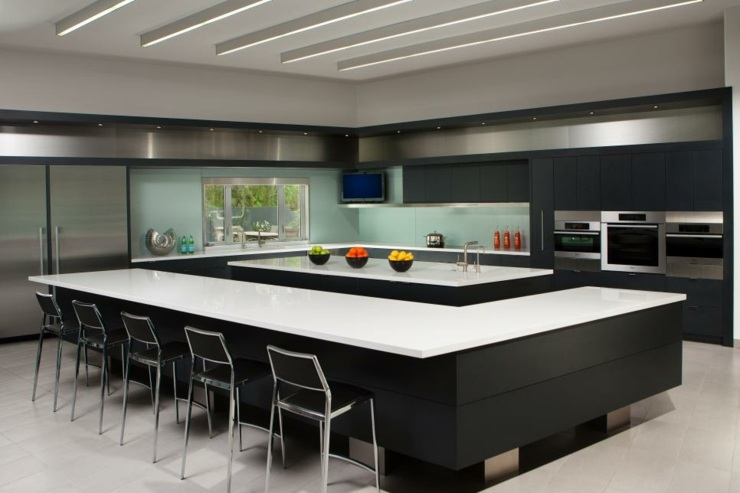 Imagenes cocinas modernas y funcionales con estilo - Cocinas con isla central fotos ...