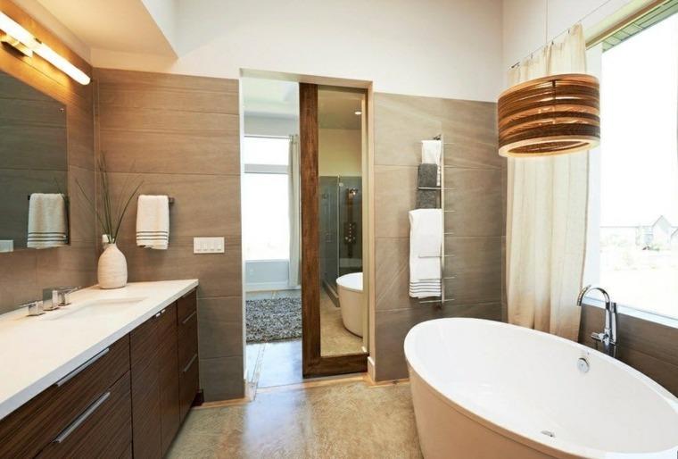 imagenes de banos modernos amplio lavabo madera ideas