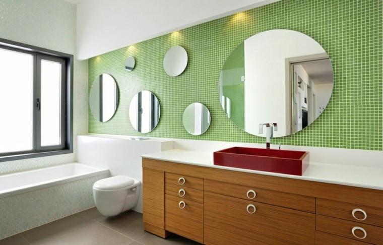 Ba os modernos verde - Espejos de banos modernos ...