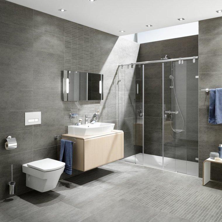 Baños Con Ducha Negra:Imagenes de baños 102 ideas para espacios modernos -