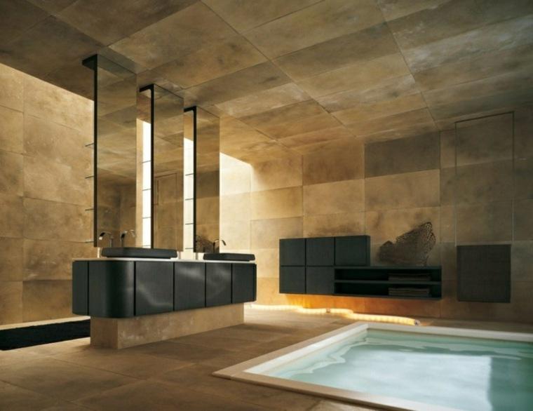 imagenes de banos modernos amplios muebles negros ideas