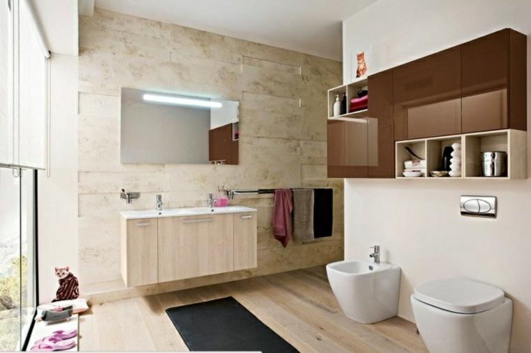 Imagenes de ba os 102 ideas para espacios modernos - Armarios de bano altos ...