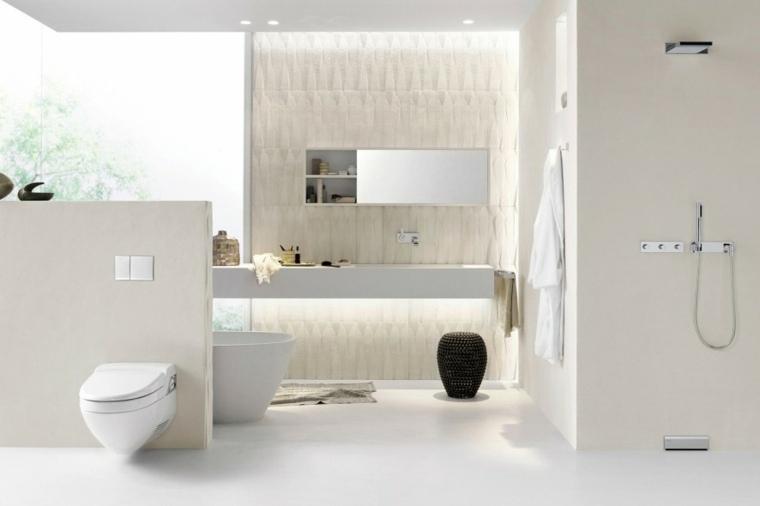 imagenes banos modernos ducha banera taburetes ideas
