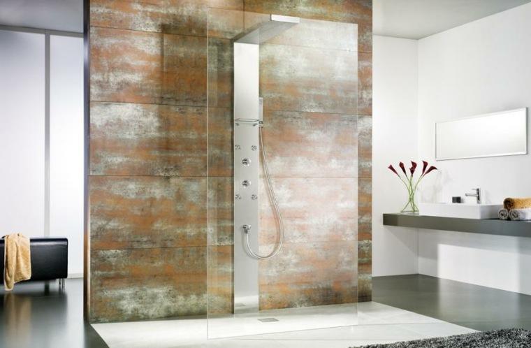 imagenes banos modernos ducha mampara crital ideas