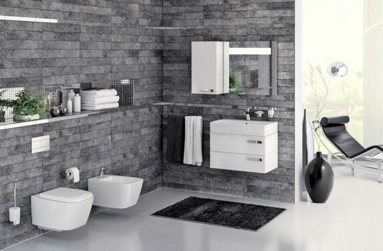 Estantes De Acero Para Baño:estantes de acero en el baño moderno