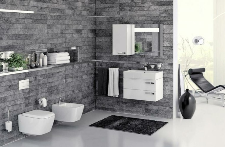 Imagenes de ba os 102 ideas para espacios modernos - Alfombras de bano ...