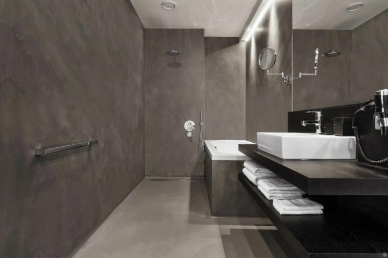 Baños Modernos Grises:imagenes banos modernos negro gris ideas