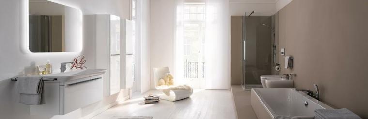 imagenes banos modernos silla blanca diseno ideas