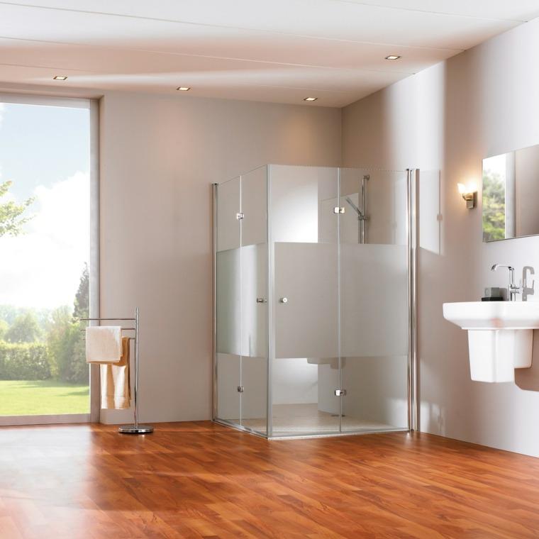 Imagenes de ba os 102 ideas para espacios modernos - Banos con suelo de madera ...