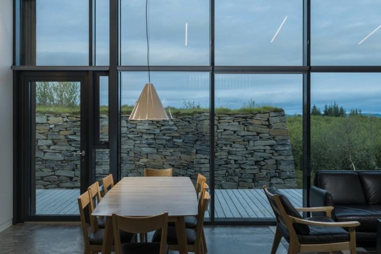 interior casa campo verde corteza