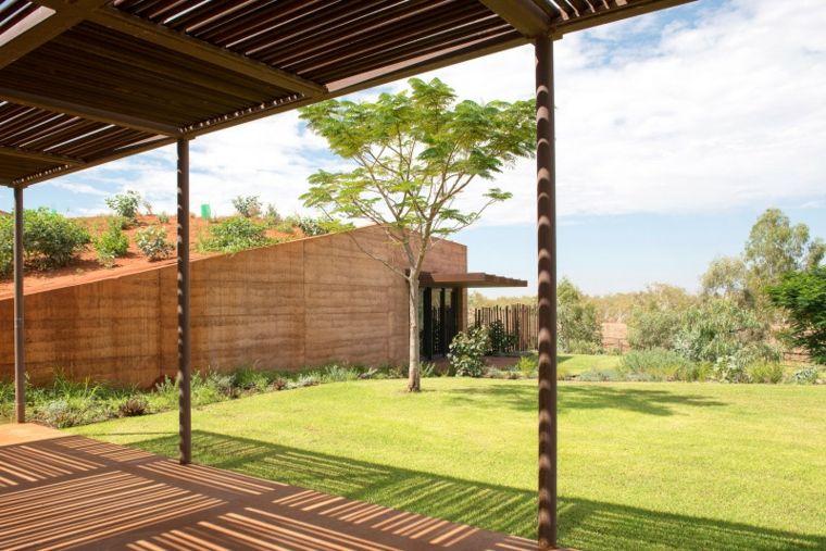 porche casa moderna verde