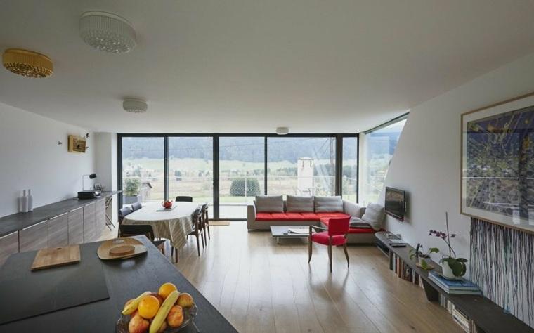 interior casa terraza moderna