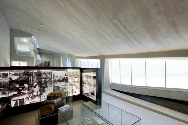 interior terraza casa verde moderna