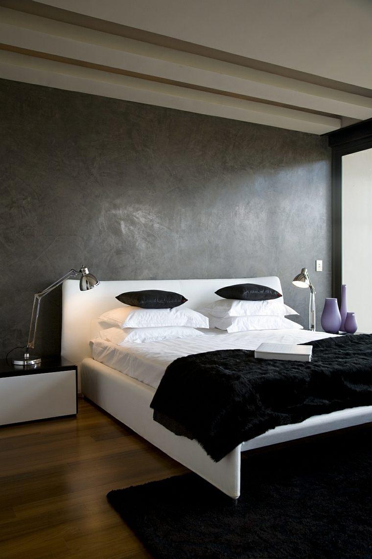 interiores minimalistas cama grande blanca bonito ideas