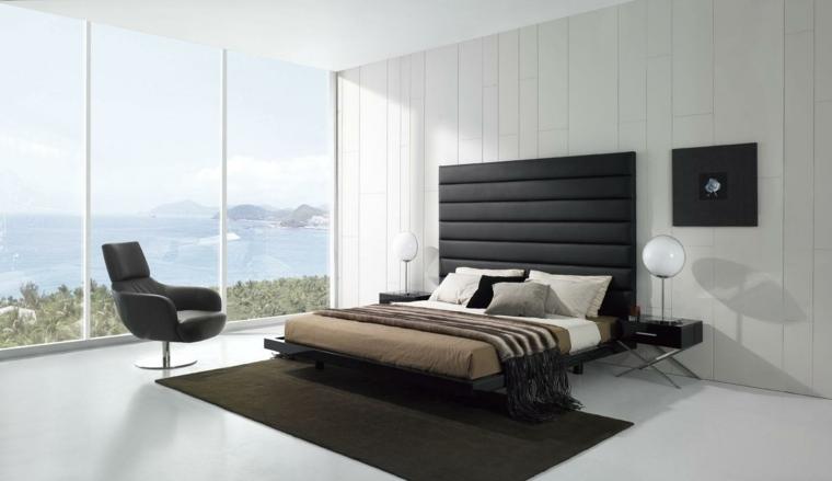 interiores minimalistas dormitorio blanco luminoso ideas