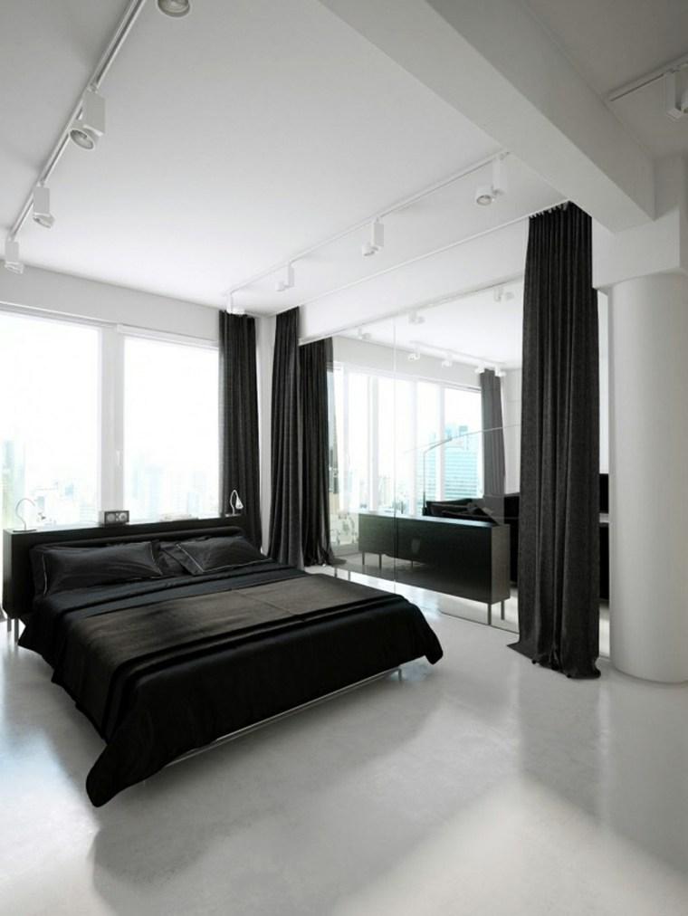 Interiores minimalistas 85 habitaciones en blanco y negro for Interiores de casas minimalistas 2015