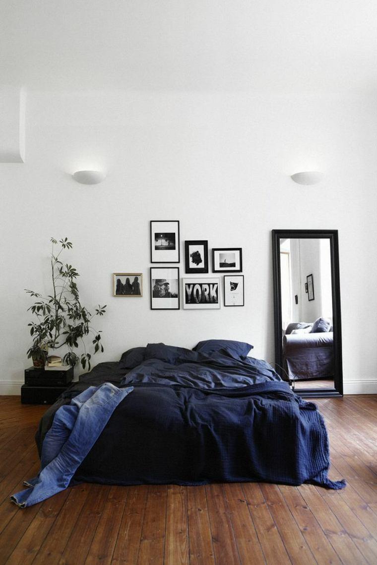 interiores minimalistas dormitorio espejo ideas