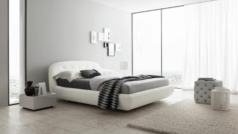 interiores minimalistas dormitorio muebles modernos ideas