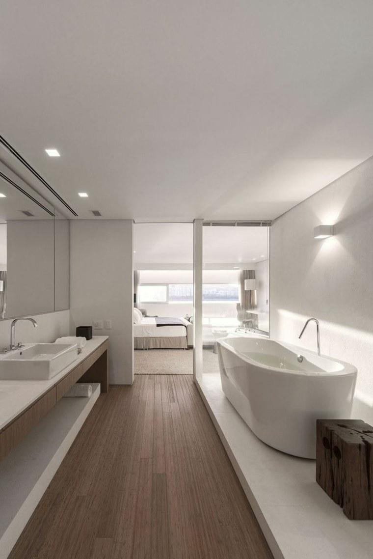 interiores minimalistas opciones bano blanco ideas