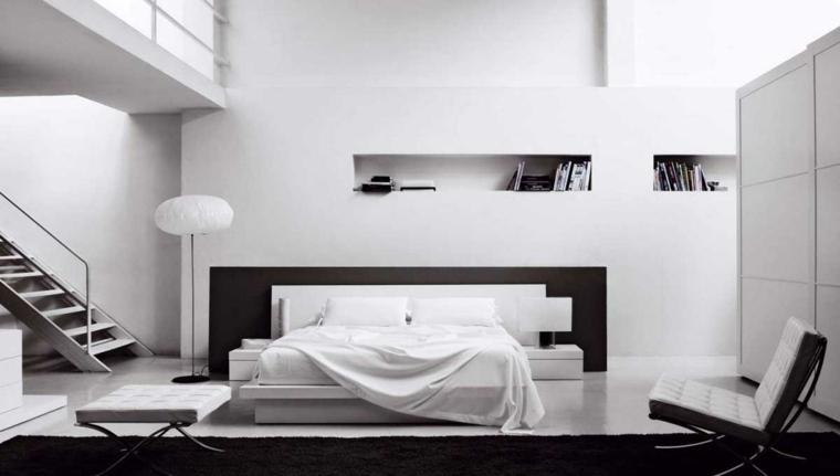 Interiores minimalistas 85 habitaciones en blanco y negro for Decoracion interior de casas minimalistas