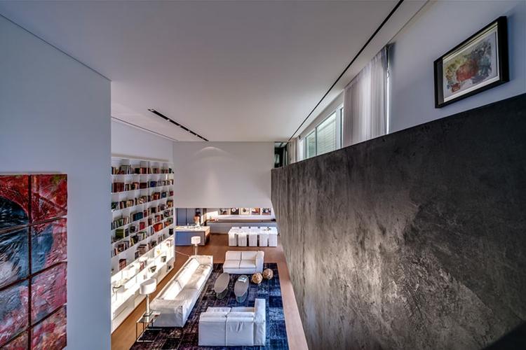 interiores modernos salones biblioteca diseño