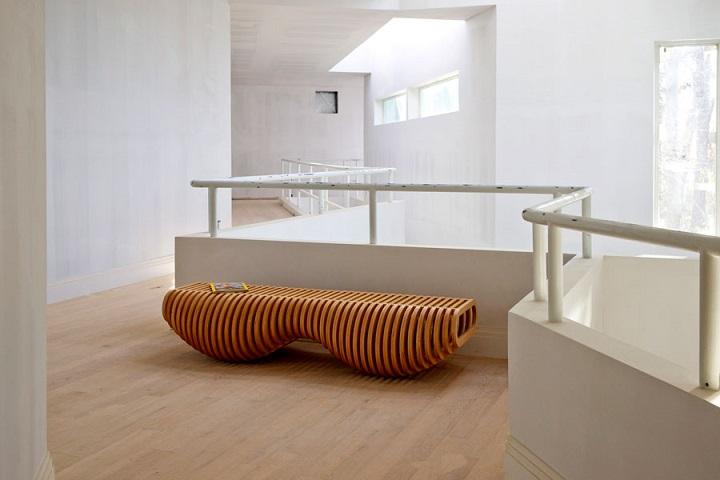 Mobiliario creatividad y conceptos para bancos de interior - Bancos de madera para interior ...