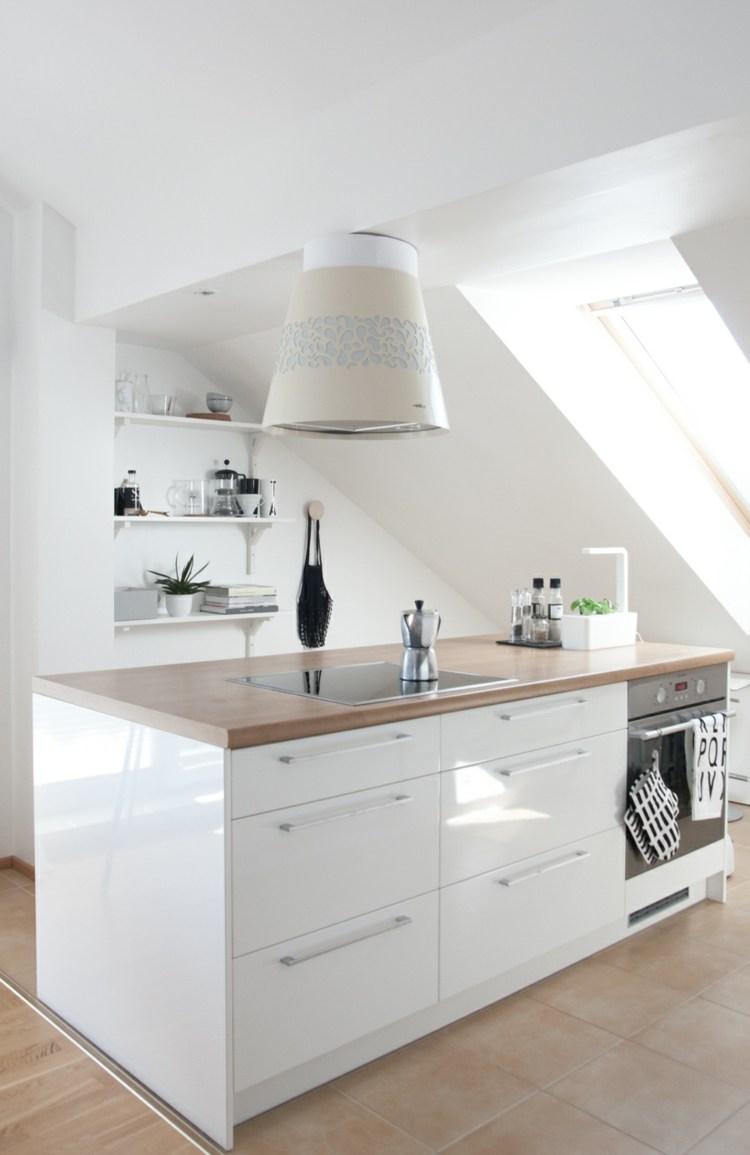 isla cocina moderna madera