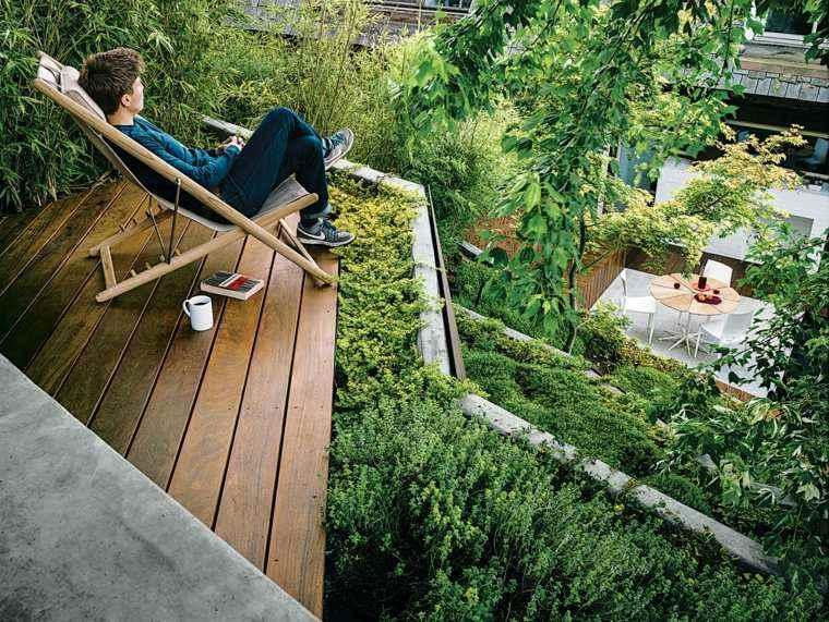 jardin diseno vistas plantas terrazas ideas