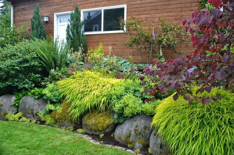 jardin japones opciones hierba montana piedras grandes ideas