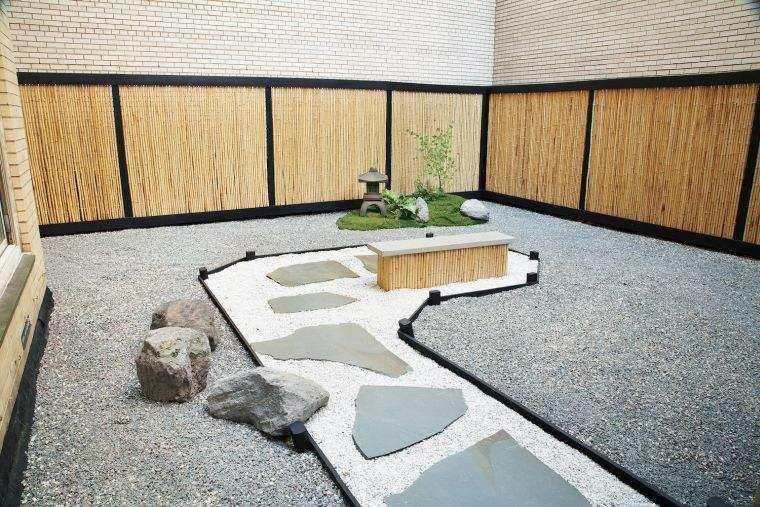 jardin opciones decoracion banco madera ideas