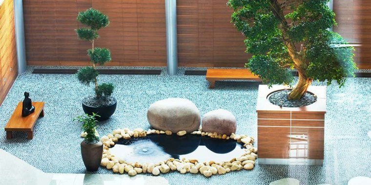 jardin opciones decoracion estanque bonsai ideas
