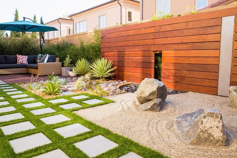 jardin opciones decoracion pared laminas madera ideas