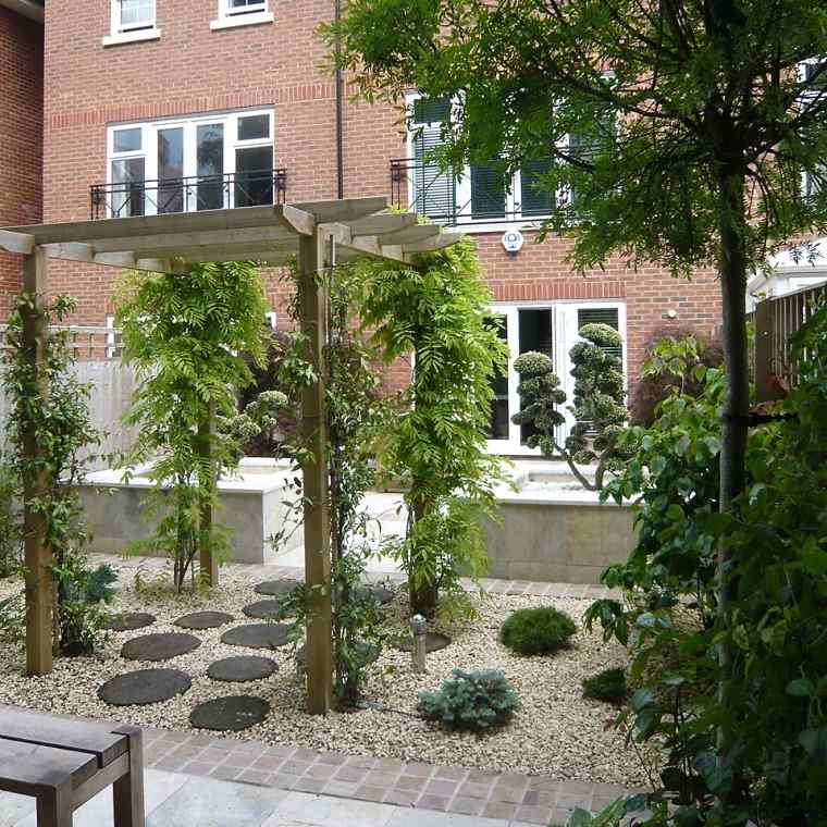 jardin opciones decoracion pergola zen ideas