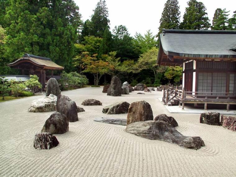 jardin opciones decoracion piedras grandes zen ideas