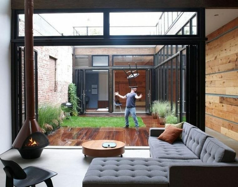 jardin pequeno diseno casa moderna ideas