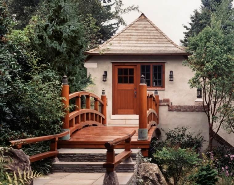 jardin pequeno diseno puente decorativa ideas