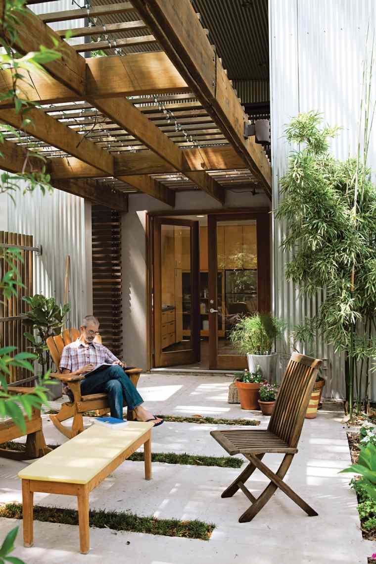 jardin pequeno diseno residencia moderna ideas