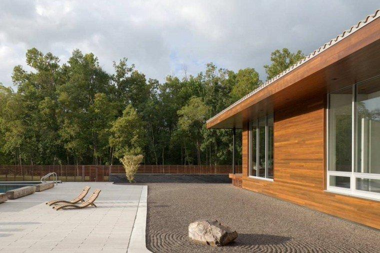 diseno grava jardin amplio zen ideas