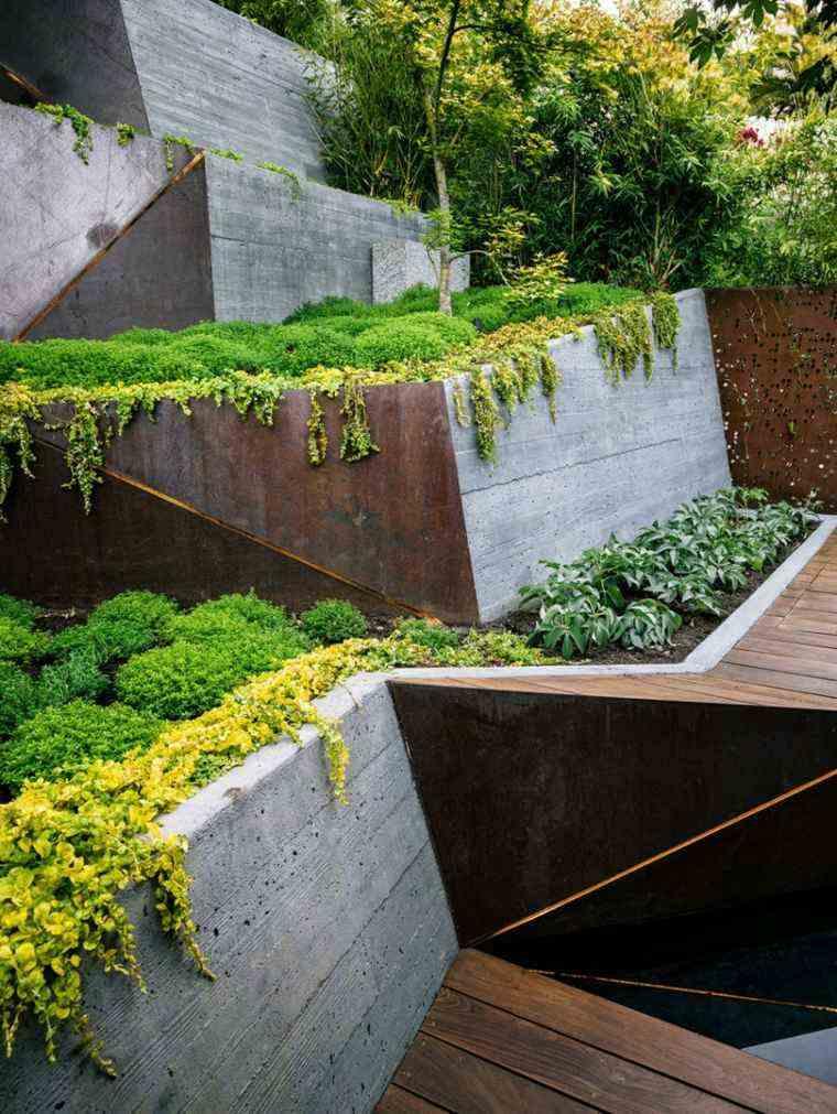 jardin terrazas plantas trepadoras naturalidad ideas