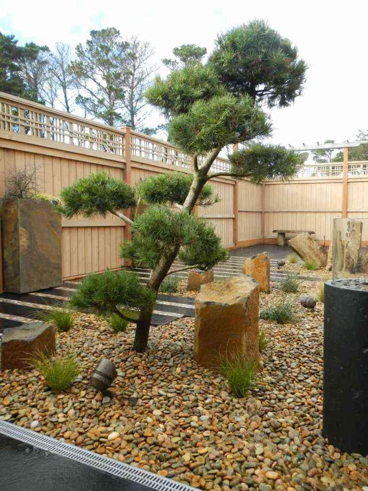 jardin zen opciones decoracion diseno arbol piedras ideas