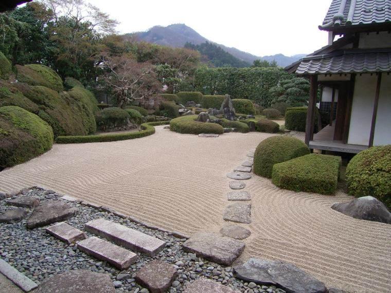 jardin zen opciones decoracion diseno grava piedras ideas