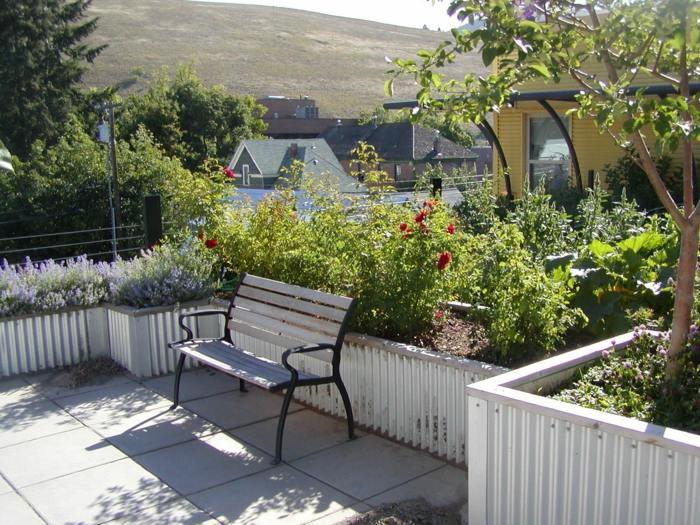 jardineras altas salones mitades bancos salas
