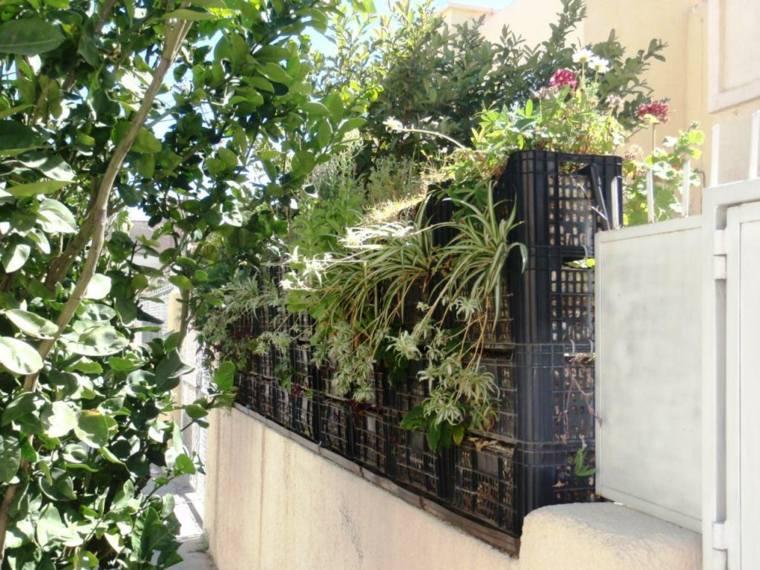 jardineras verticales cajas frutas plástico