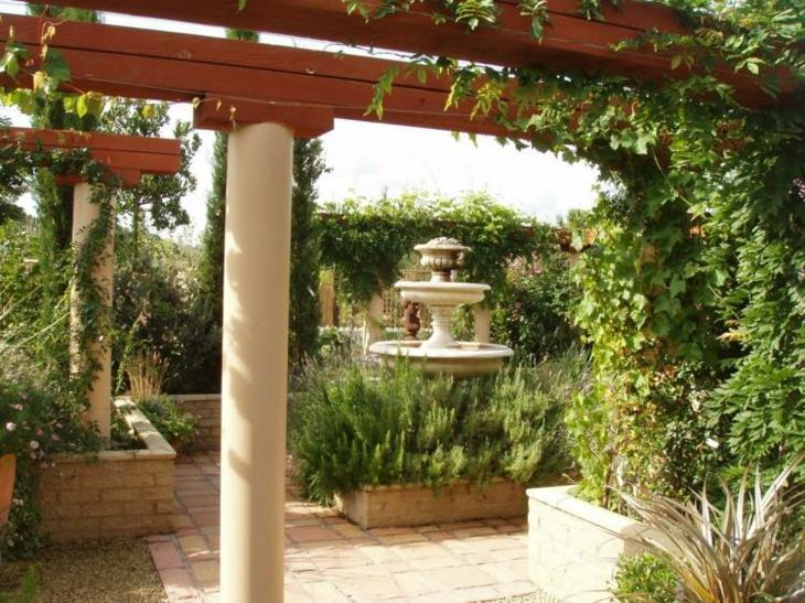 jardines diseño mediterraneo salidas maderas rocas