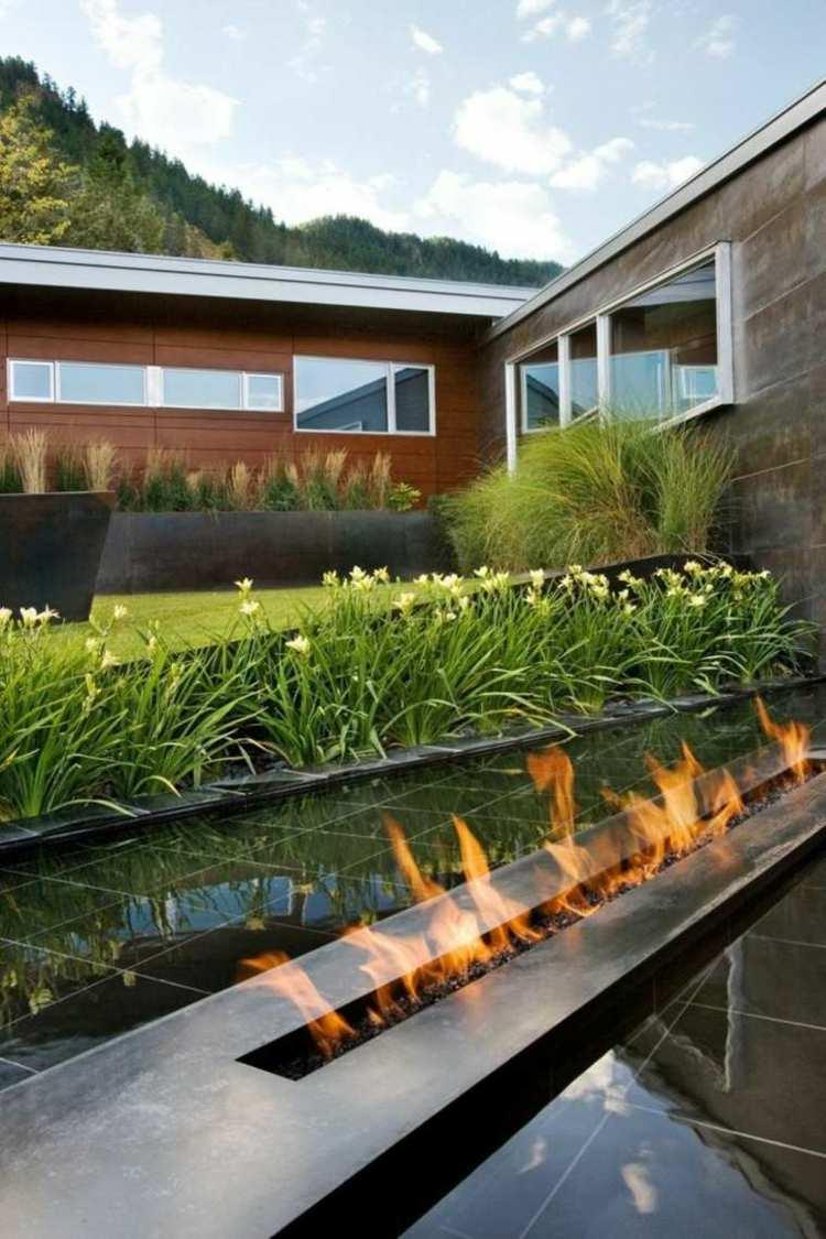 Minimalismo en el jard n 100 dise os paisaj sticos for Disenos de estanques para jardin