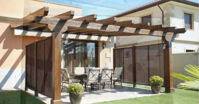 jardin porche madera maciza